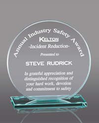 Circle Glass Award Plaque
