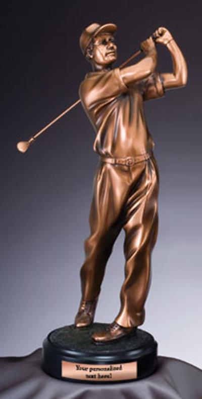 Bronze Golf Swing Trophy