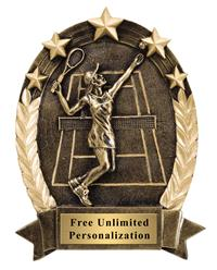 Five Star Oval Tennis Award - Female