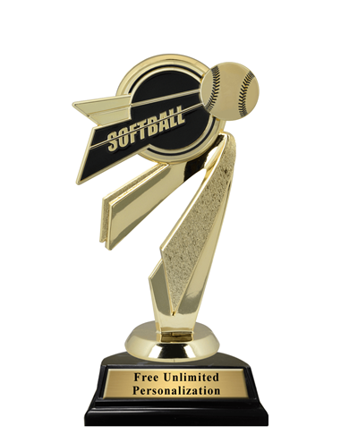 Bullseye Softball Trophy