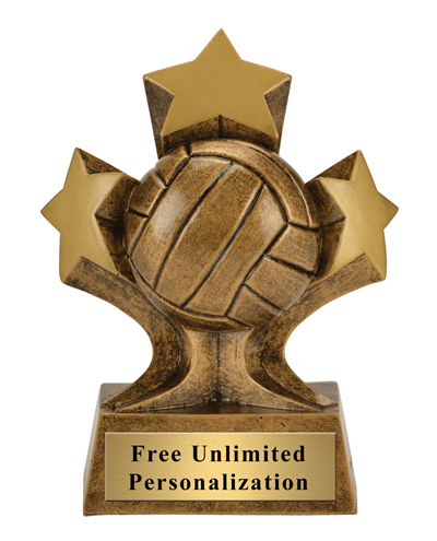 Tri-Star Volleyball Trophy