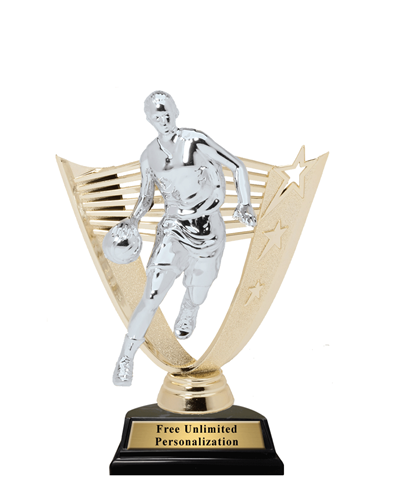 Victory Backdrop Basketball Trophy – Female