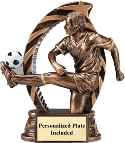 Running Star Soccer Trophy – Male