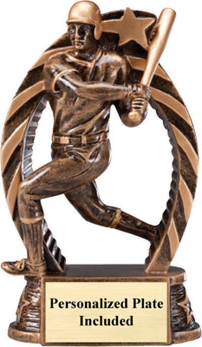 Running Star Baseball Trophy