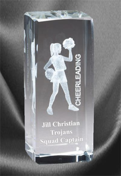 3D Cheerleading Sports Crystal
