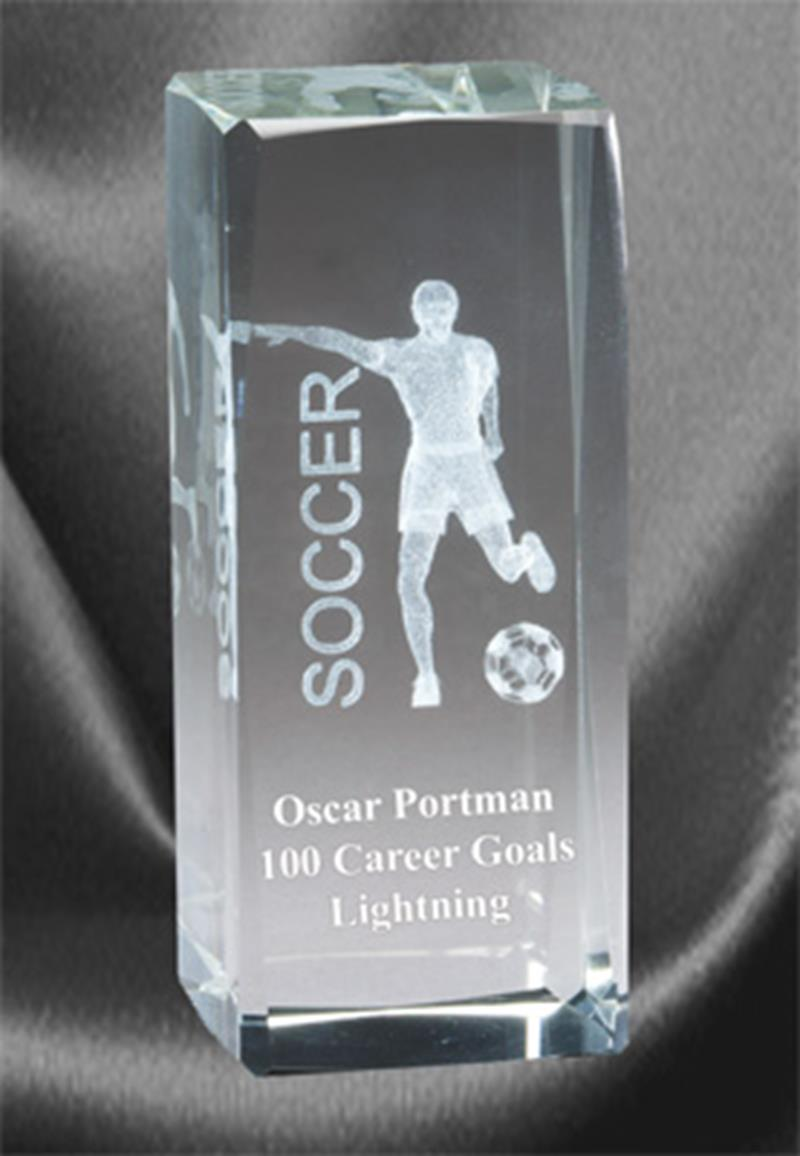 3D Soccer Sports Crystal Male