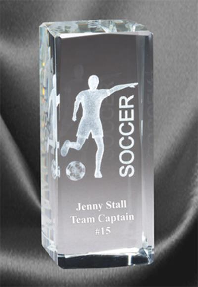 3D Soccer Sports Crystal Female