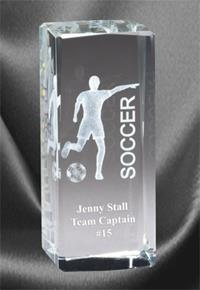 3D Soccer Sports Crystal – Female