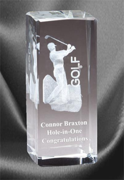 3D Golf Sports Crystal Male