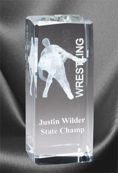 3D Wrestling Sports Crystal