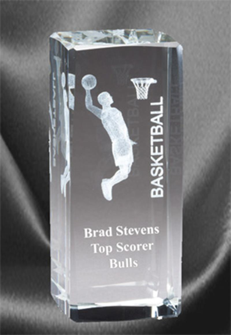 3D Basketball Sports Crystal Male