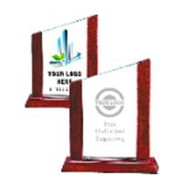 Rosewood Accent Glass Award