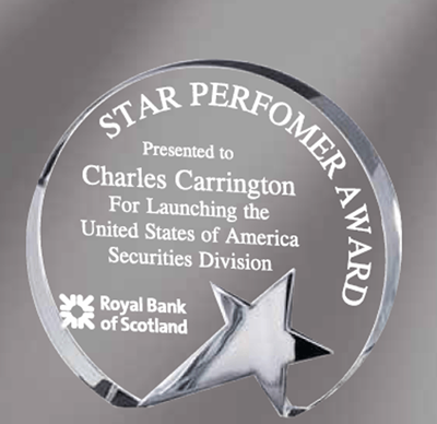 Circle Crystal Star Award