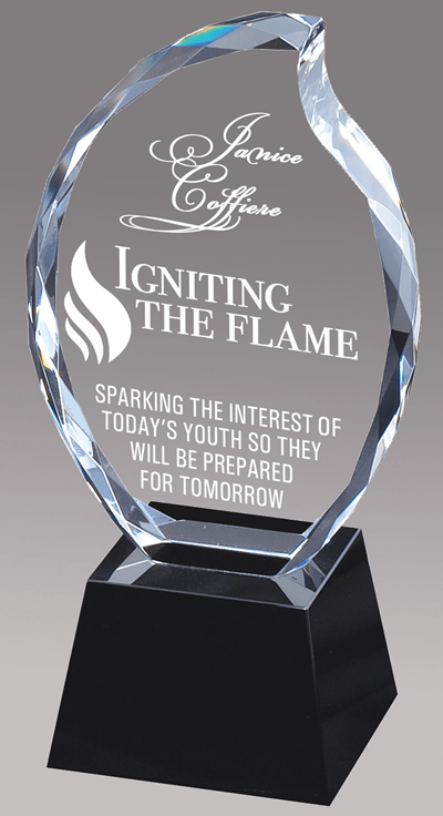 Optical Flame Crystal Award