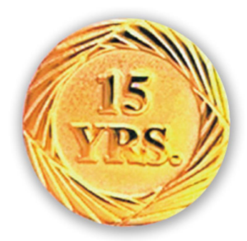 Service Pin – 15 Years