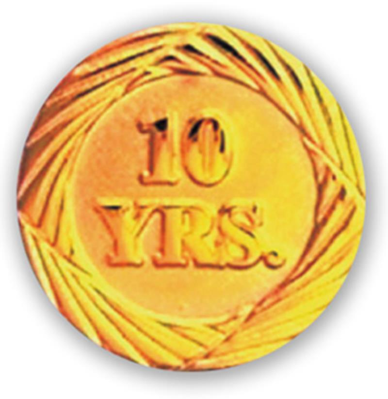 Service Pin – 10 Years