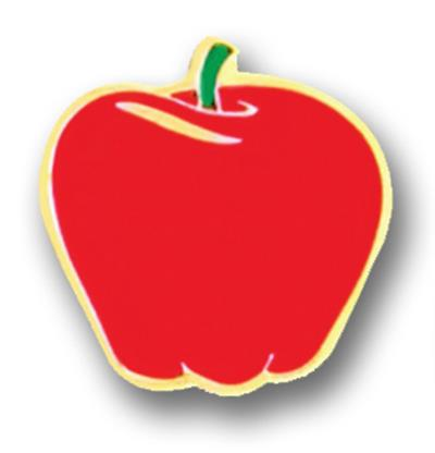 Awareness Pin – Red Apple