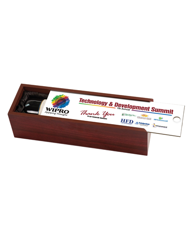 Rosewood Wine Display Box w/ Custom Full Color Lid