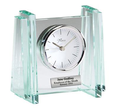 Cube Glass Desk Clock