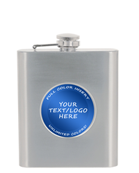 Stainless Steel Flask with Custom Insert