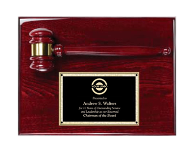 Rosewood Gavel Plaque