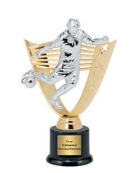 Victory Backdrop Soccer Trophy – Male – Large