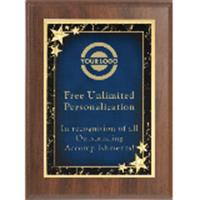 Star Achievement Premium Plaque - Blue