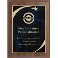 Premium Sweeping Star Plaque - Blue