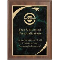 Premium Sweeping Star Plaque - Green