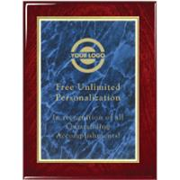 Gloss Finish Designer Plaque - Blue Marble