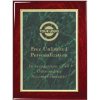 Gloss Finish Designer Plaque - Green Marble