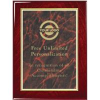Gloss Finish Designer Plaque - Red