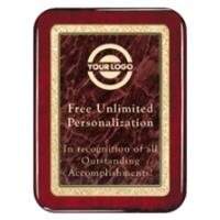 Classic Marble Rosewood Rounded Plaque - Red