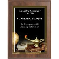 Lamp of Knowledge Photo Plaque