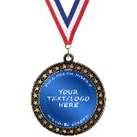 Custom Champion Star Insert Medal