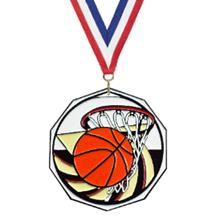 Bright Color Basketball Medal