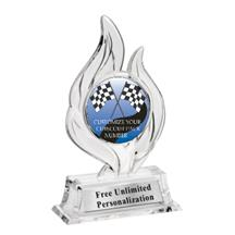 Krystal Flame Pinewood Derby Trophy