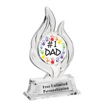 Krystal Flame Fathers Day Insert Trophy