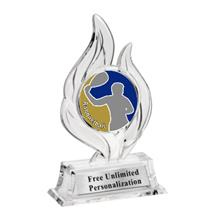 Krystal Flame Racquetball Trophy