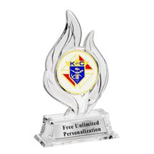 Krystal Flame Knights of Columbus Trophy