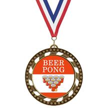 Victory Star Beer Pong Insert Medal