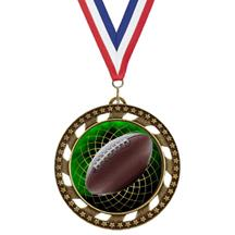 Victory Star Football Insert Medal