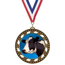 Victory Star Cow Insert Medal