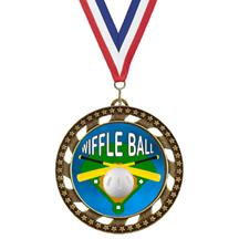 Victory Star Wiffle Ball Insert Medal