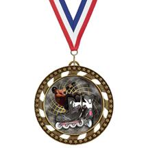 Victory Star Inline Skating Insert Medal