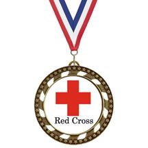 Victory Star Red Cross Insert Medal