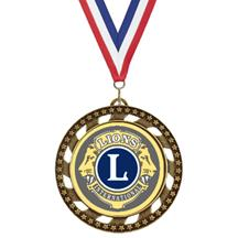 Victory Star Lions Club Insert Medal