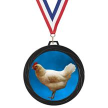 Black Lazer Chicken Medal