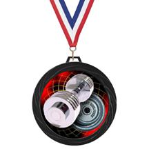 Black Lazer Bodybuilding Medal