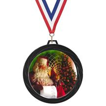 Black Lazer Christmas Medal